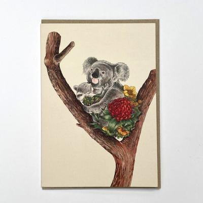 Blank Card - Koala Cuddle