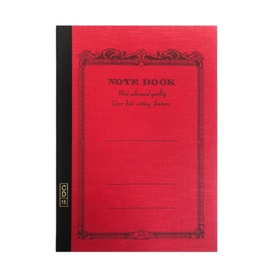 Notebook A5 Lined Red