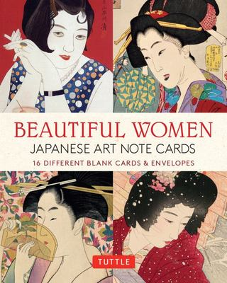 Beautiful Women in Japanese Art Note Cards - 16 Different Blank Cards and Envelopes