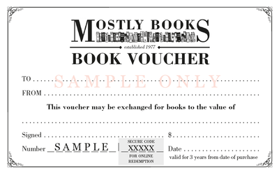 $150 Mostly Books Gift Voucher