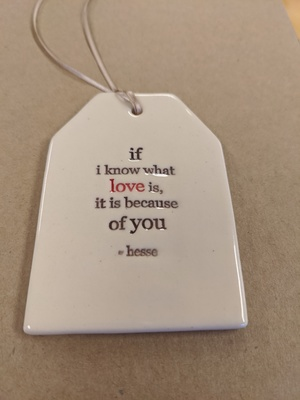 What Love Is Quote Tag Paper Boat Press