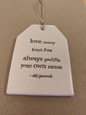 Canoe Quote Tag Paper Boat Press