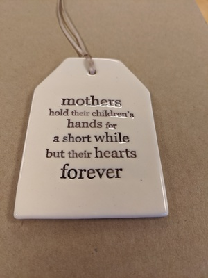 Mothers Quote Tag Paper Boat Press