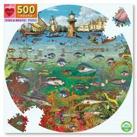 Homepage fish and boats round puzzle 1
