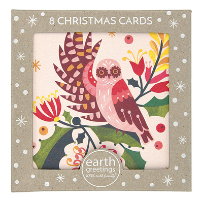 Boxed Christmas Cards - Owl & Mistletoe