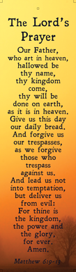 The Lord's Prayer: Mat 6v9-13 Bookmark
