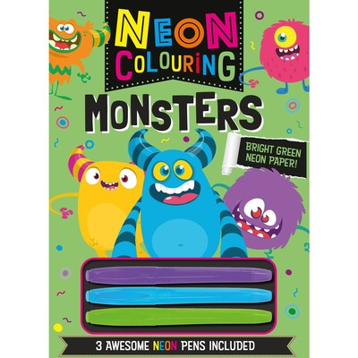 Monsters Neon Colouring
