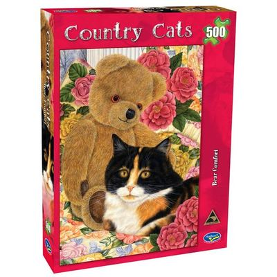 Country Cats Bear Comfort 500pc