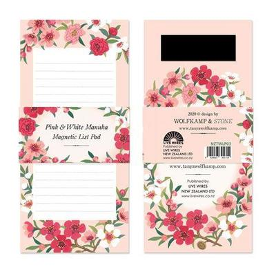 List Pad - Pink & White Manuka Magnetic