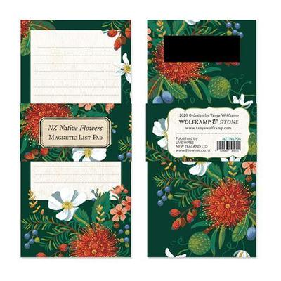 List Pad - NZ Native Flowers Magnetic