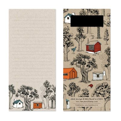 Tramping Huts Magnetic List Pad