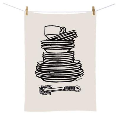 Dick Frizzell - Dishes Tea Towel
