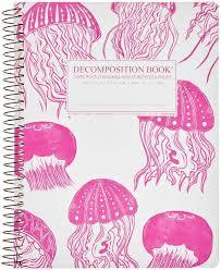 Decomposition Large Ruled Jellyfish Spiral Notebook