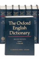 The Oxford English Dictionary: Vols 1-20 + CD ROM