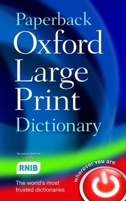 Paperback Oxford Large Print Dictionary (2nd Ed., 2007)