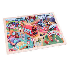 Animal City (wooden jigsaw puzzle