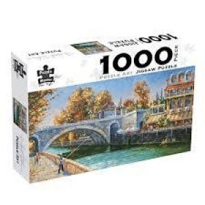 Riverbank Fisherman: 1000-piece Jigsaw Puzzle - Puzzle Art