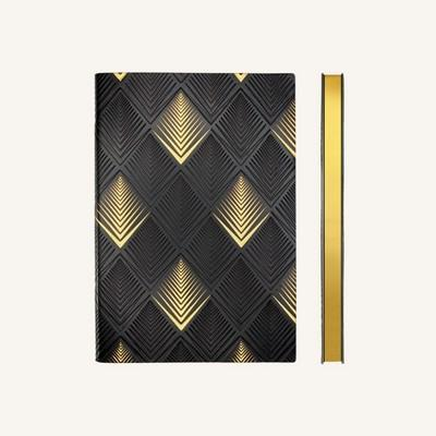 ART DECO DOTTED PYRAMID A5 NOTEBOOK