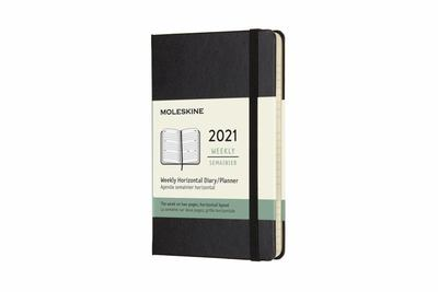 2021 Weekly Horizontal Black Pocket Hardcover Diary Moleskine