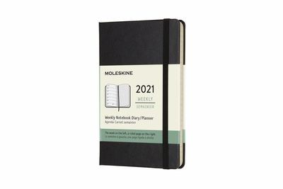2021 Weekly Notebook Black Pocket Hardcover Diary Moleskine