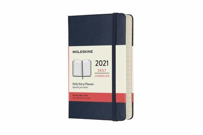 2021 Daily Sapphire Blue Pocket Hardcover Diary