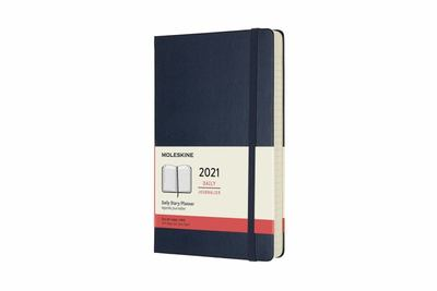 2021 Daily Large Sapphire Blue Hardcover Diary