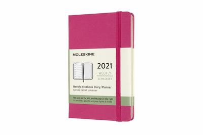 2021 Weekly Notebook Pink Pocket Hardcover Diary Moleskine