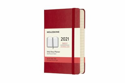 2021 Daily Red Pocket Hardcover Diary Moleskine