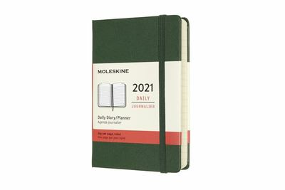 2021 Daily Green Pocket Hardcover Diary Moleskine