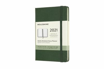 2021 Weekly Notebook Green Pocket Hardcover Diary Moleskine