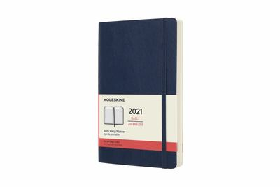 2021 Daily Blue Large Softcover Diary Moleskine
