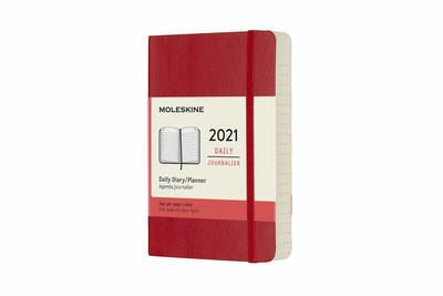 2021 Daily Red Pocket Softcover Diary Moleskine