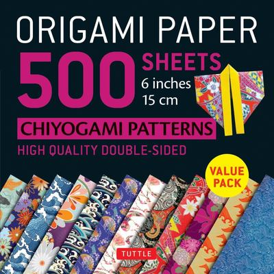 Origami Paper 500 Sheets Japanese Chiyogami Designs 6 15cm