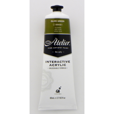 Atelier Interactive Acrylic S1 Olive Green 80ml AT80OGR