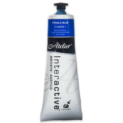 Atelier Interactive Acrylic S1 Pthalo Blue 80ml AT80PTB