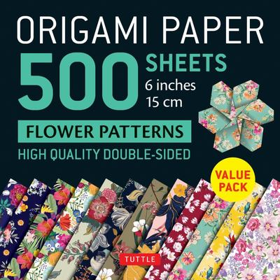 Origami Paper 500 Sheets Flower Patterns 6 (15 Cm) - Tuttle Origami Paper: High-Quality Double-Sided Origami Sheets Printed with 12 Different Patterns (Instructions for 6 Projects Included)