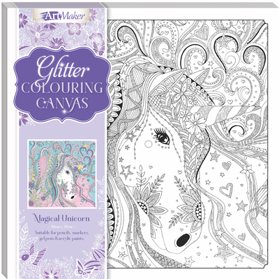 Large 9354537001131 artmaker glitter canvases magical unicorn