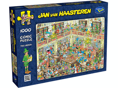 Holdson 1000pce The Library - Jan van Haasteren Jigsaw Puzzle HOL772353