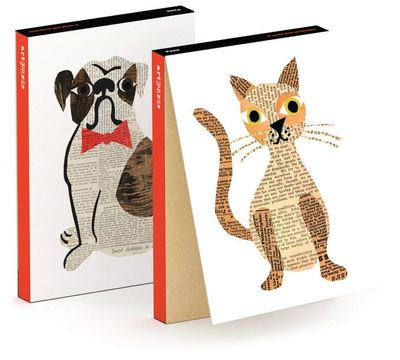 Cats and Dogs Notecards pk6