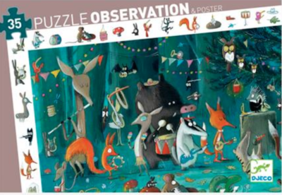 Djeco Orchestra 35-Piece Observation Puzzle