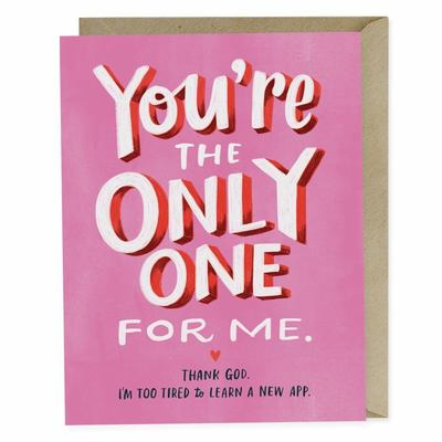 Card - The Only One for Me 2-02534