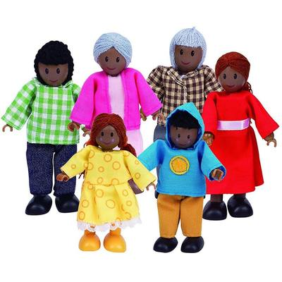 African American Wooden Family
