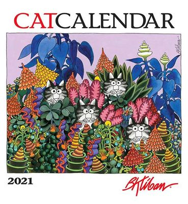 Wall Calendar - Cat  B Kliban 2021