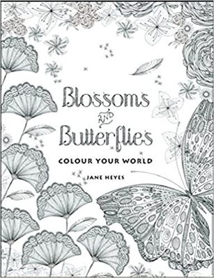 Blossoms and Butterflies Colouring Book