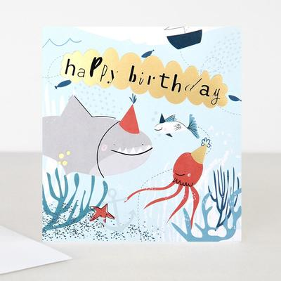 Card - Happy Birthday Shark
