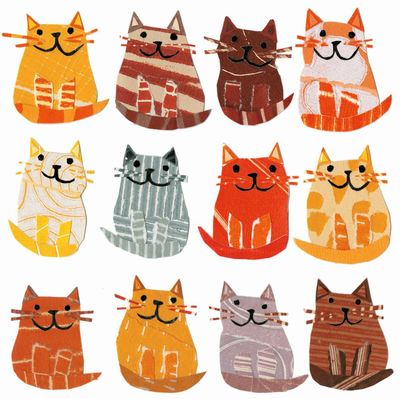 Card - Cats in a Row