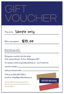 GOOD BOOKS Gift Voucher $35.00