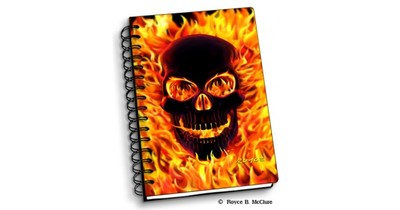 Notebook Fire Skull