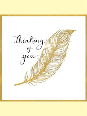 Card - Thinking of You Feather ZEB7