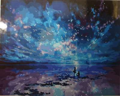 Starry Beach DIY Paint By Numbers Canvas